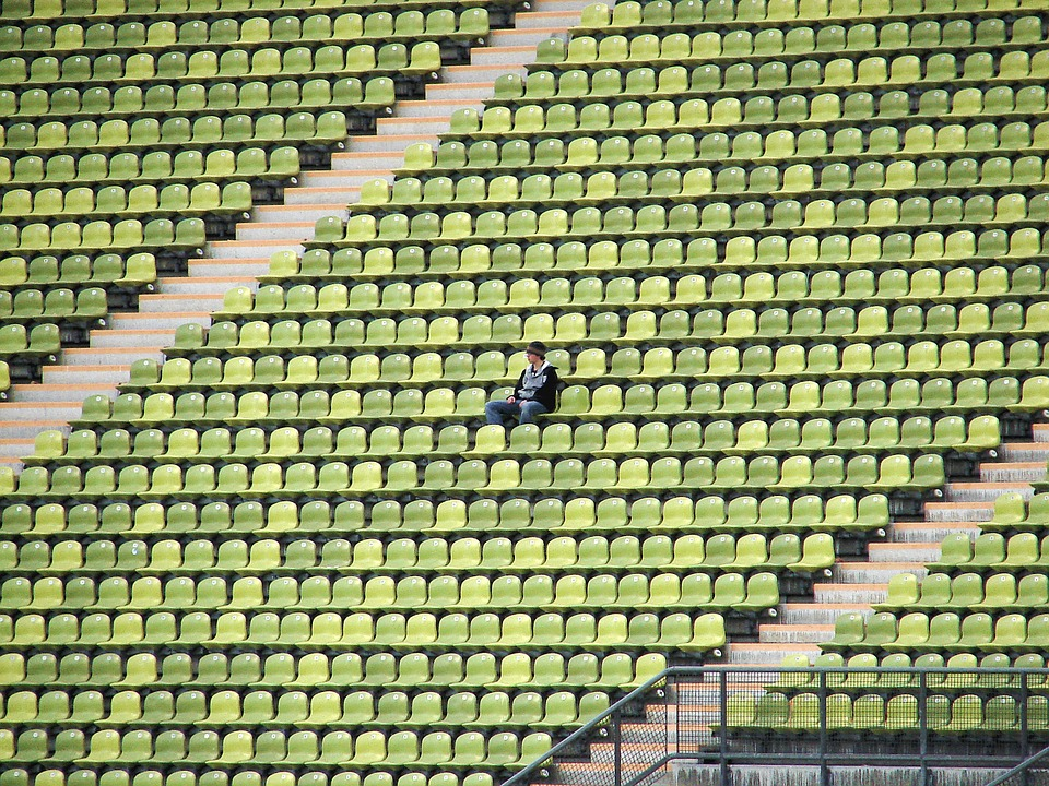 Man sitting in the stands