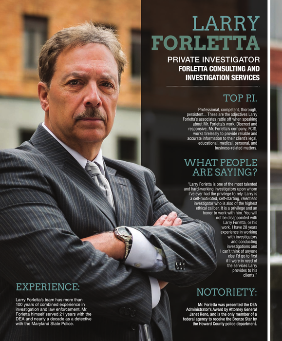 Larry Forletta, Private Investigator